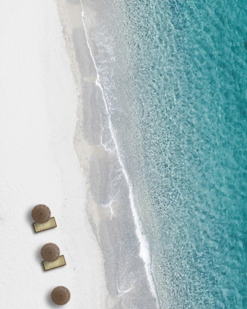 aereal shot of a beach